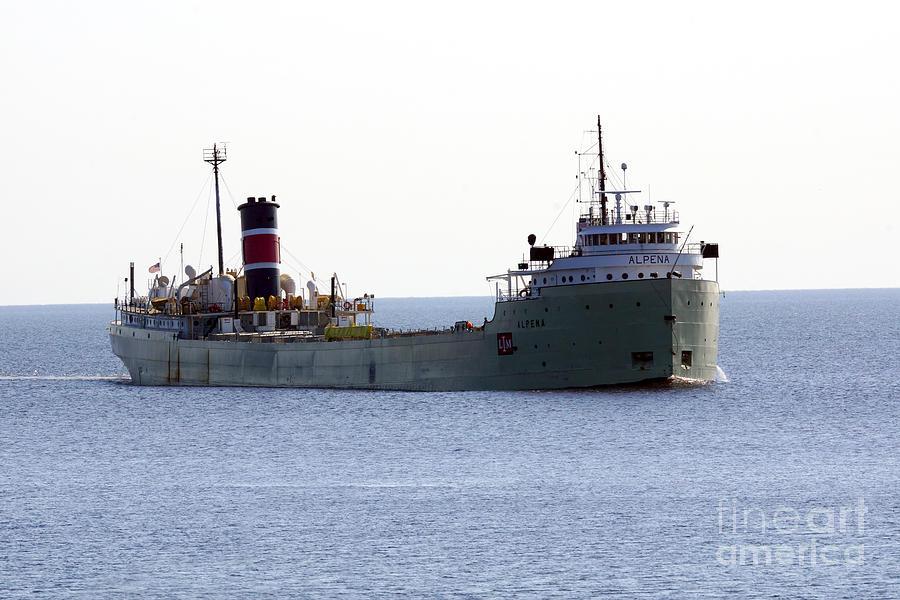 Ship Photograph - Alpena Ship by Lori Tordsen