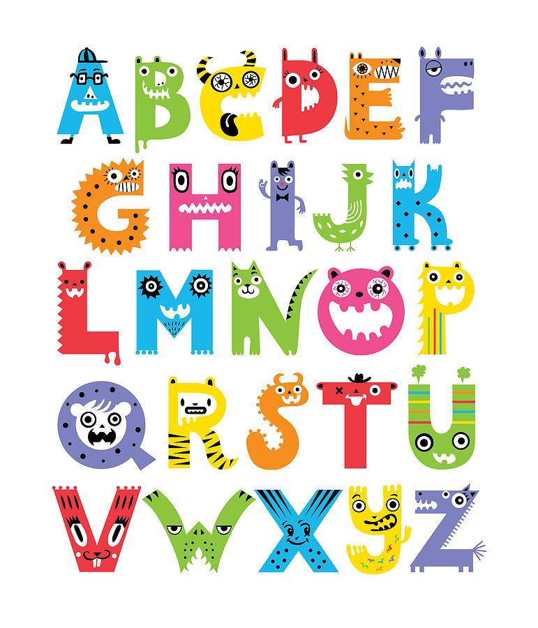Monster Alphabet Letters Clip Art | Foto Bugil Bokep 2017