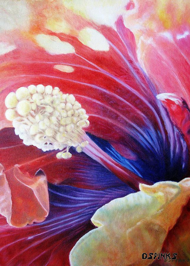 Hibiscus Painting - Als Hibiscus by Debra Spinks
