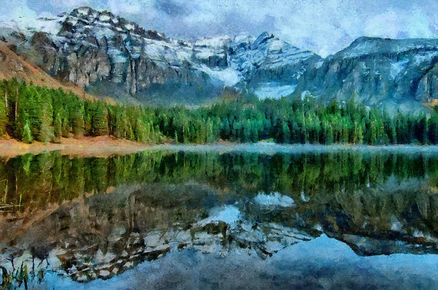 Alta Lakes Painting - Alta Lakes Reflection by Jeff Kolker