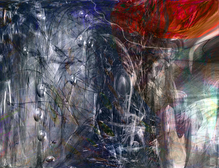 Abstract Digital Art - Altered Second Movements by Linda Sannuti
