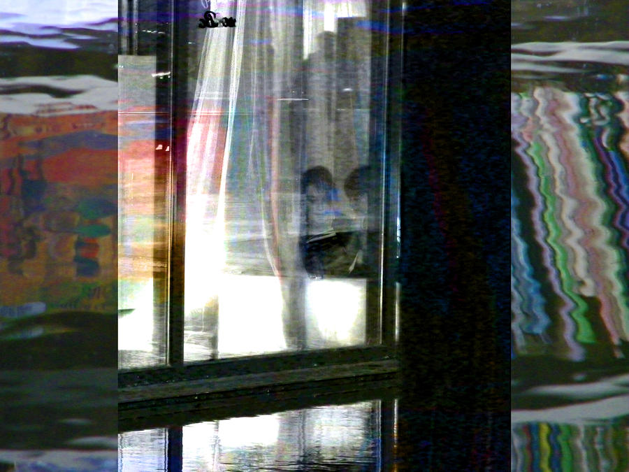 Abstract Photograph - Alternate Reality - Mother And Son Reading by Lenore Senior