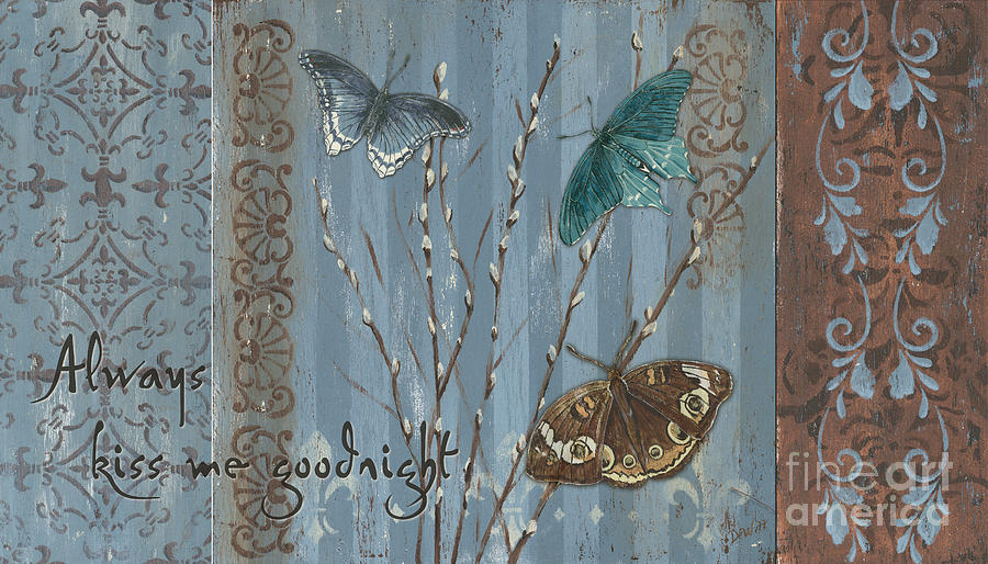 Butterfly Painting - Always Kiss Me Goodnight by Debbie DeWitt