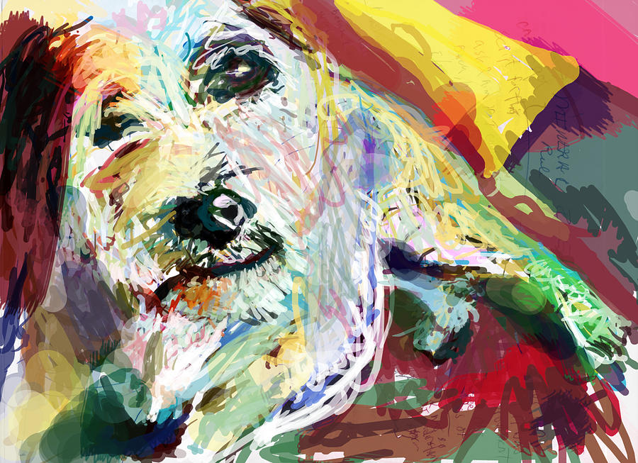 Dog Digital Art - Always Supportive by James Thomas