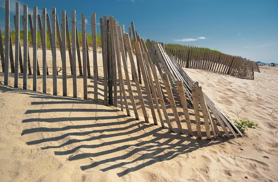 Horizontal Photograph - Amagansett Beach Fence by Joseph O. Holmes / portfolio.streetnine.com
