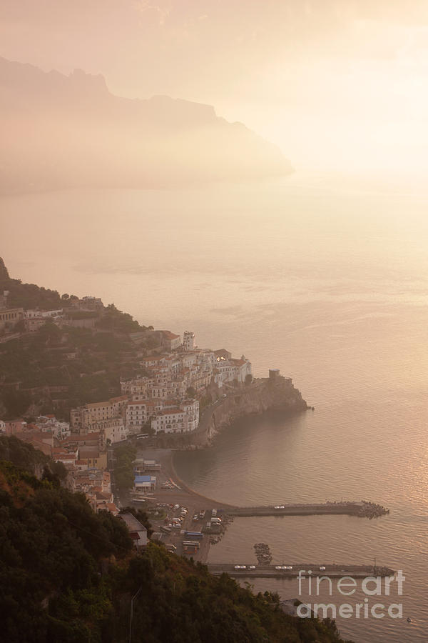 Amalfi Photograph - Amalfi At Sunrise by Chris Hill