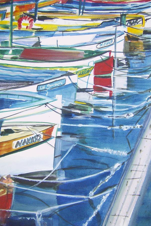 Italian Coast Painting - Amalfi Boats by Therese Fowler-Bailey