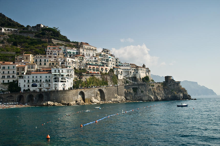 Italy Photograph - Amalfi Point by Jim Chamberlain