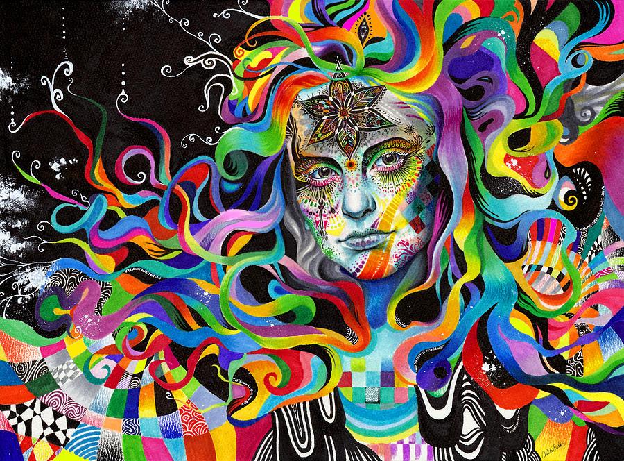 Trippy Drawing - Amalgamation by Callie Fink