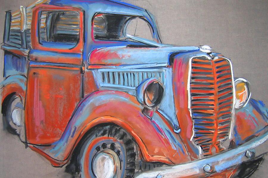Old Pastel - Amarillo Truck by Barbara Richert