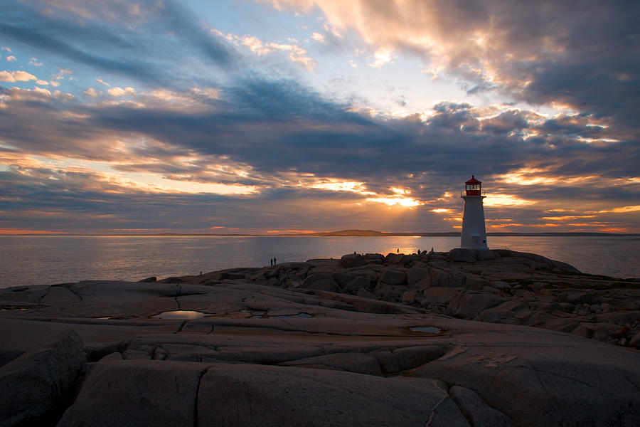 Sunset Photograph - Amazing Sunset At Peggys Cove by Andre Distel