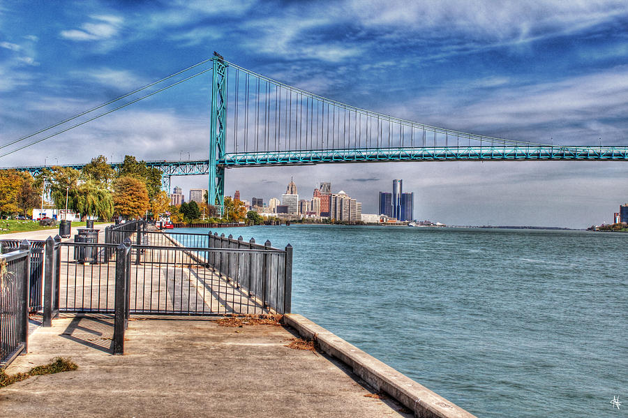 Ambassador Bridge Detroit Mi Photograph By Nicholas Grunas