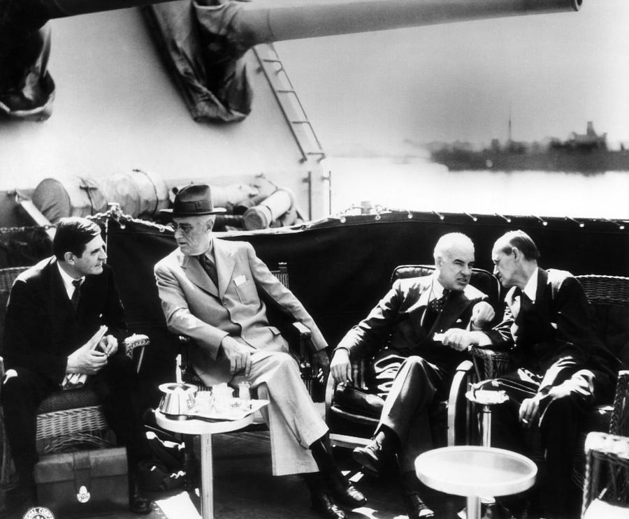 1940s Candid Photograph - Ambassador To Great Britain John G by Everett