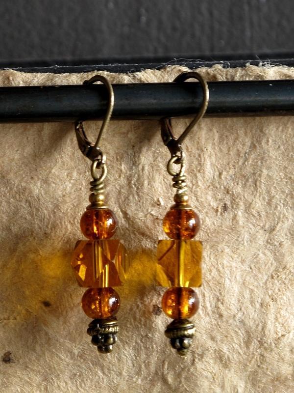 Jewelry Jewelry - Amber Cubes by Jan Brieger-Scranton