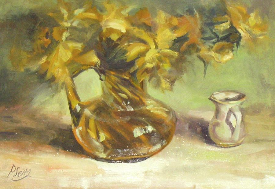 Patricia Seitz Painting - Amber Display by Patricia Seitz