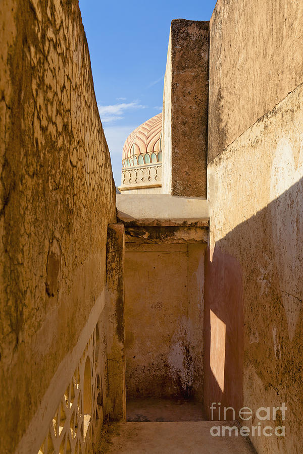 Amber Fort Photograph - Amber Fort Stairway by Inti St. Clair