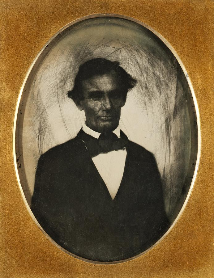 History Photograph - Ambrotype Of Abraham Lincoln, Taken by Everett