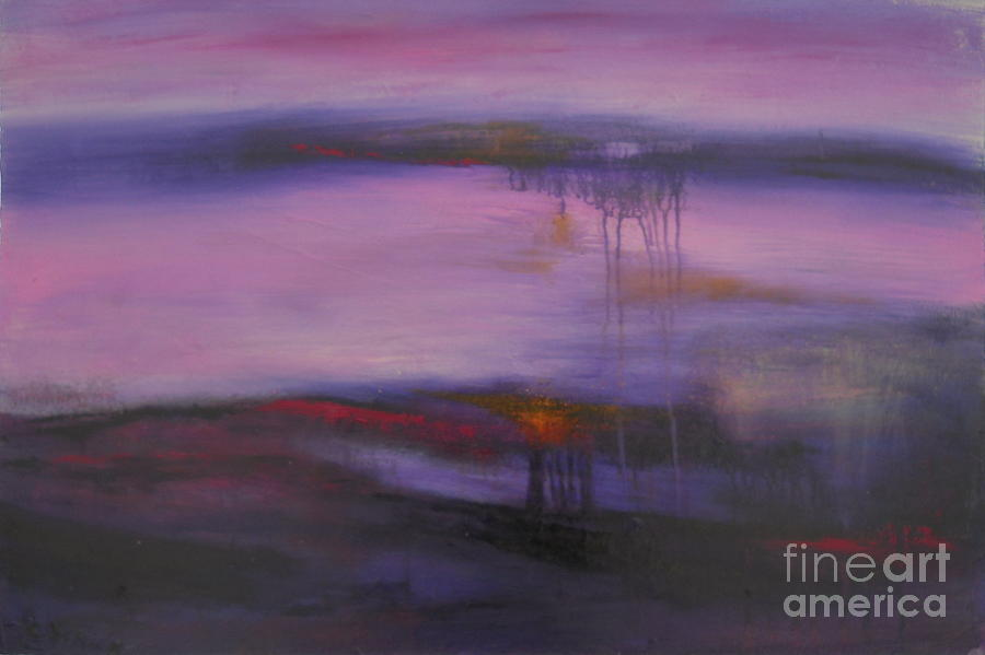 Abstract Painting - Ame Coeur Amour by Carmelle Dorion