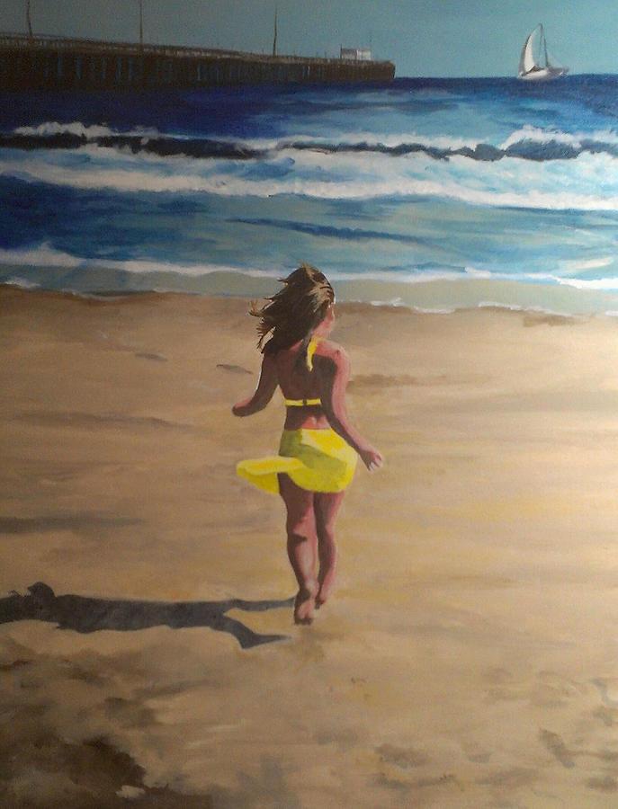 Beach Painting - Amelia Beach by Travis Day