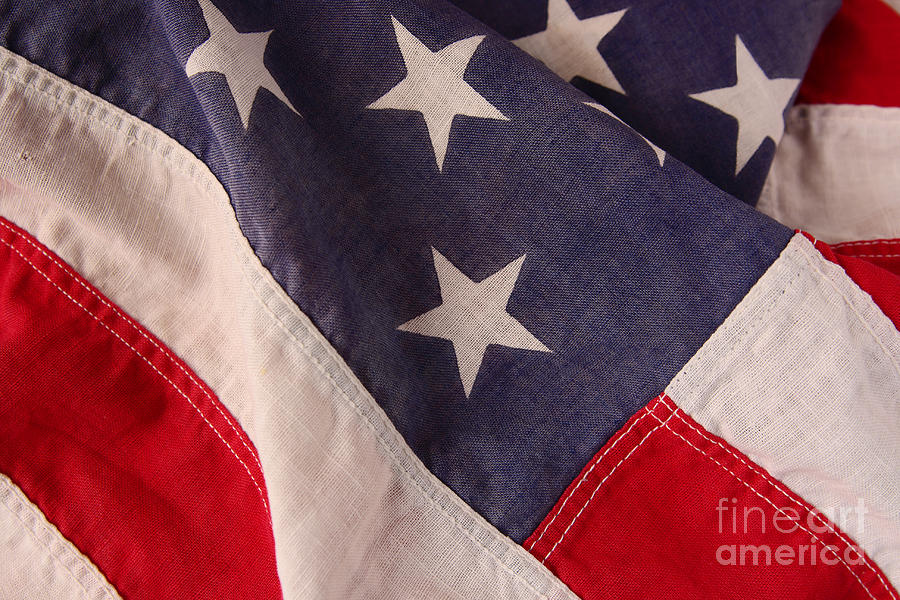 Flag Photograph - America Flag by Ruby Hummersmith