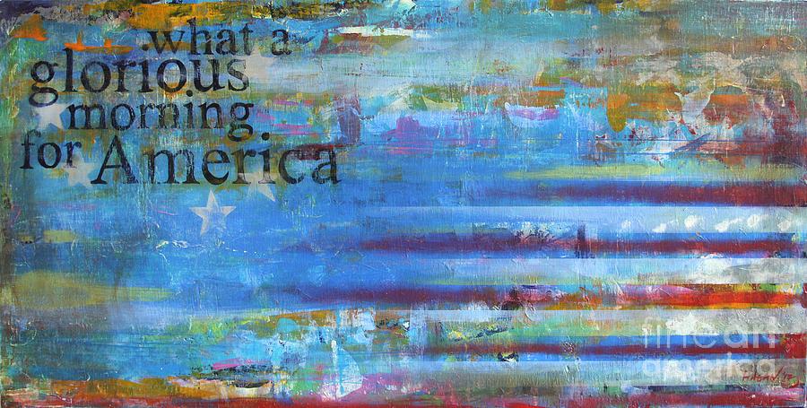 Acrylic Painting - America by Sean Hagan