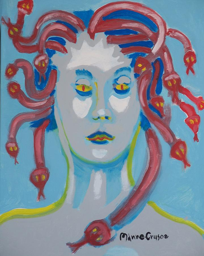 American Painting - Americaine Medusa by Jay Manne-Crusoe