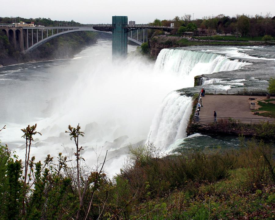 Niagara Photograph - American And Bridal Veil Falls by David Gilman