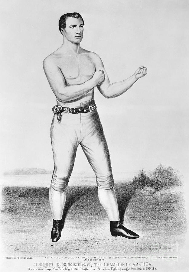 1860 Photograph - American Boxer, 1860 by Granger