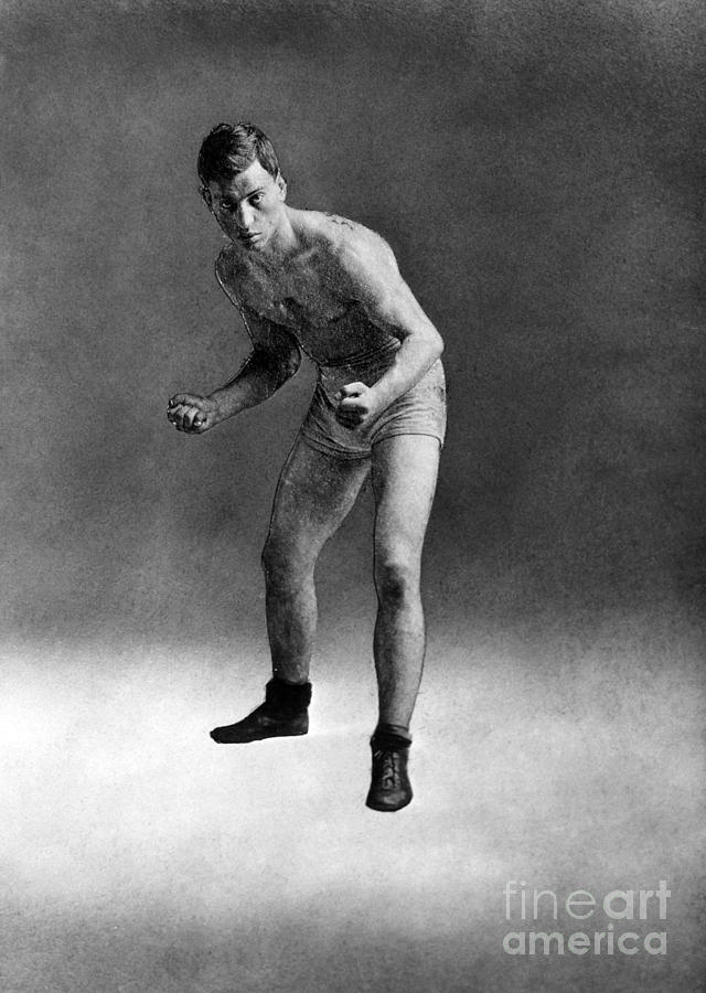 1910 Photograph - American Boxer, C1910 by Granger