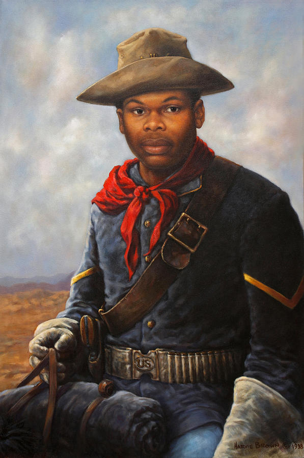 American Buffalo Soldier by Harvie Brown