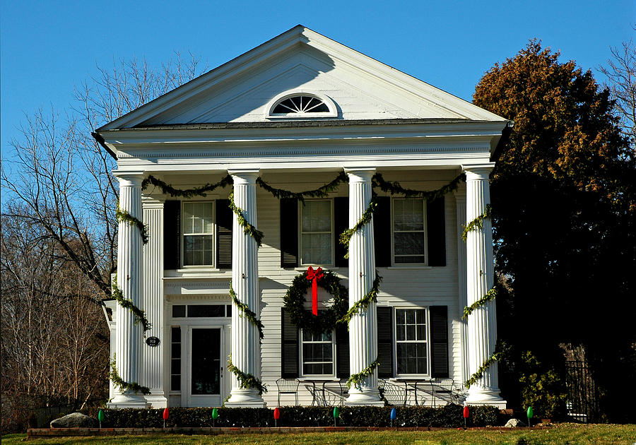 American Colonial Architecture Christmas Photograph By