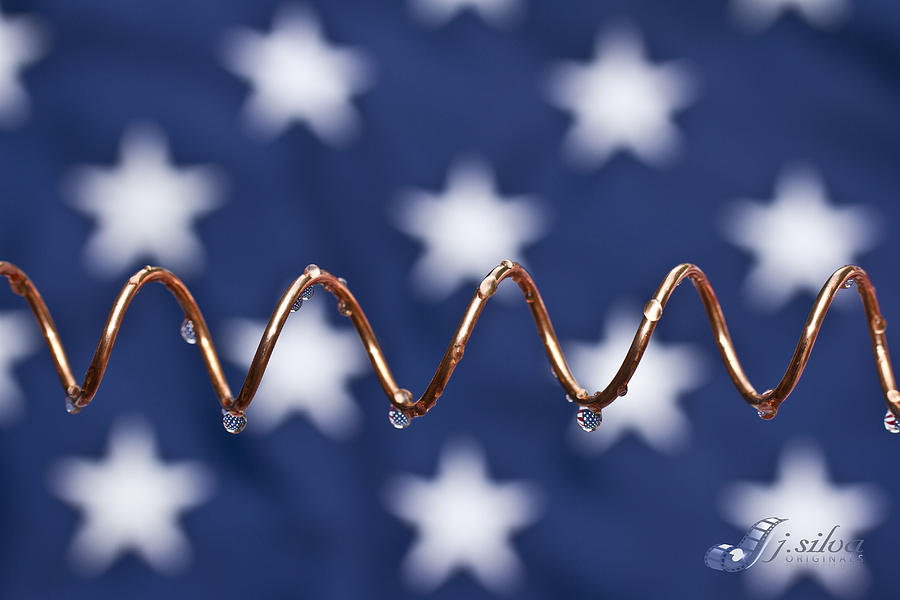 American Flag Photograph - American Copper by Joseph Silva