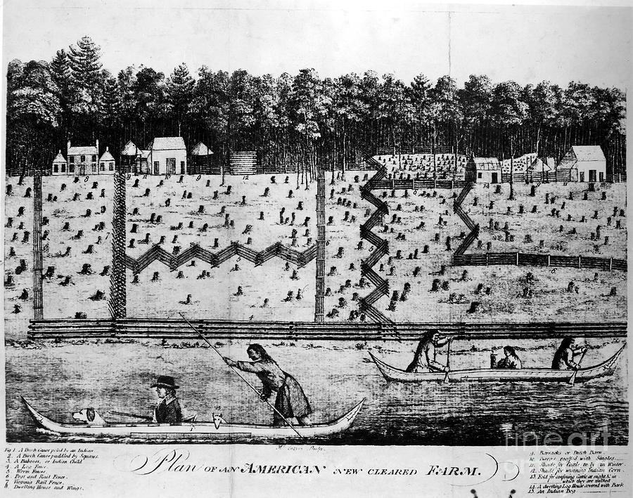 18th Century Photograph - American Farm: Plan, 1793 by Granger
