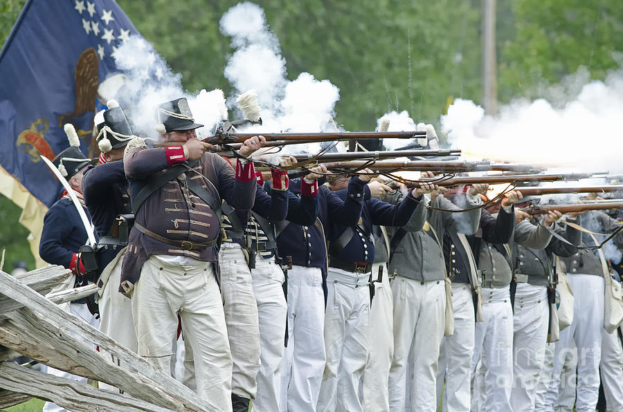 War Of 1812 Photograph - American Firing Line by JT Lewis