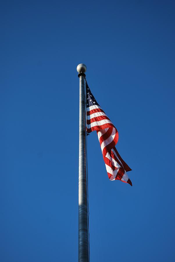 American Flag Pole Photograph by Michelle Cruz