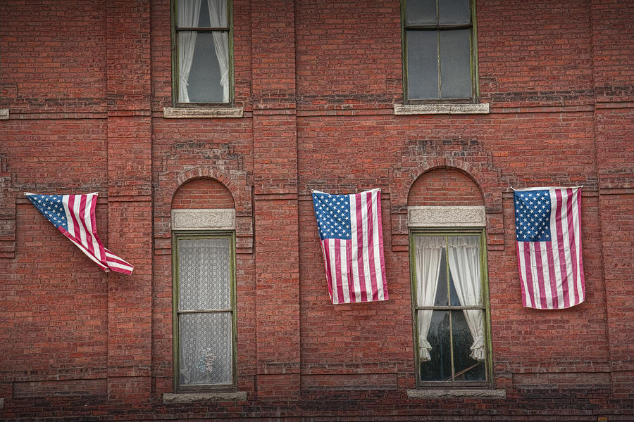 American Flags In Vermont Photograph