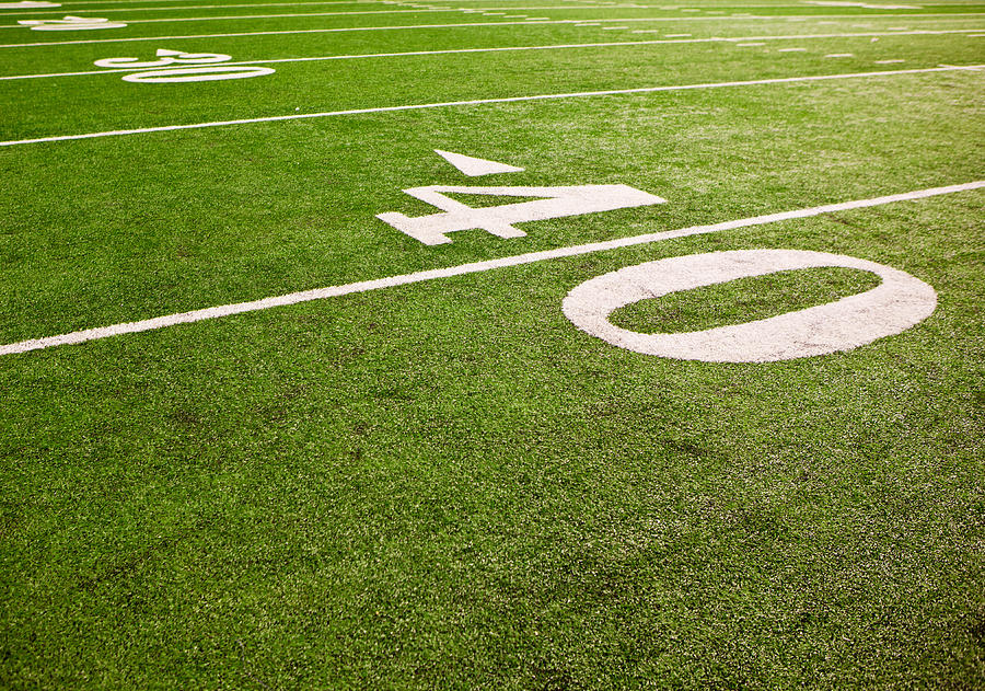 American Football Field Yard Lines By William Andrew