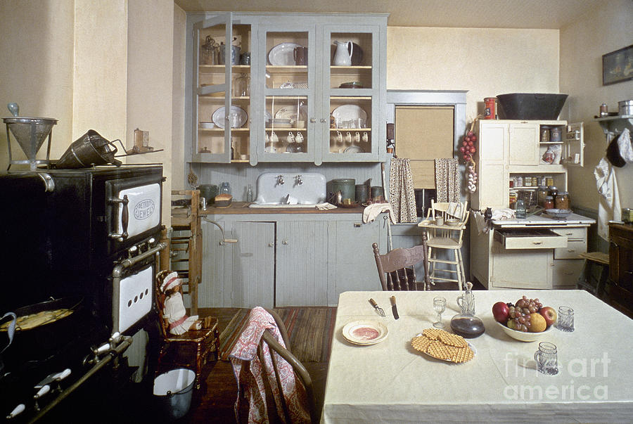 1920s Photograph - American Kitchen by Granger