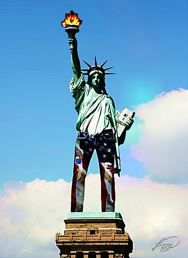 Liberty Photograph - American Style by ABA Studio Designs