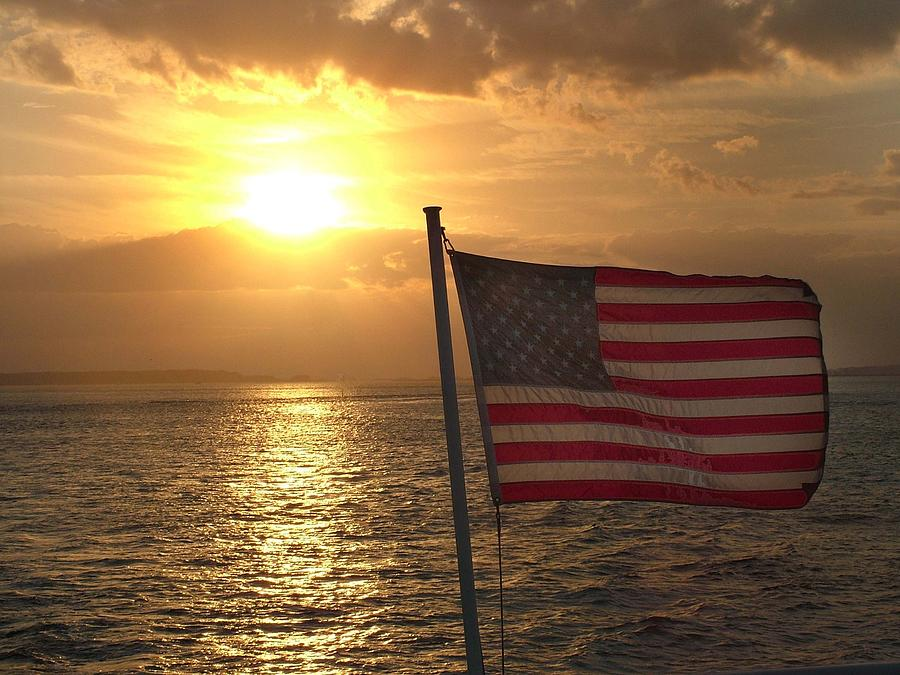 Sunset Photograph - American Sunset by Lillie Wilde