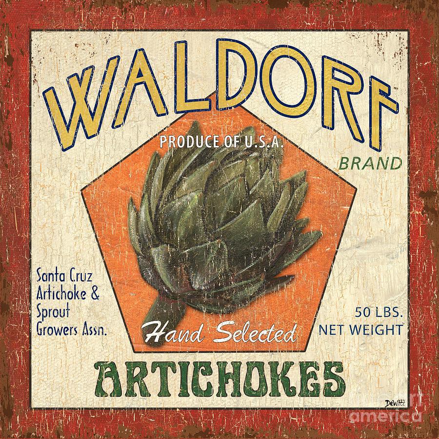Artichokes Painting - Americana Veggies by Debbie DeWitt