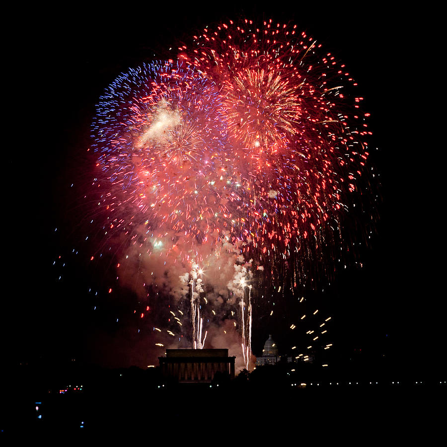 4th Of July Photograph - Americas Celebration by David Hahn