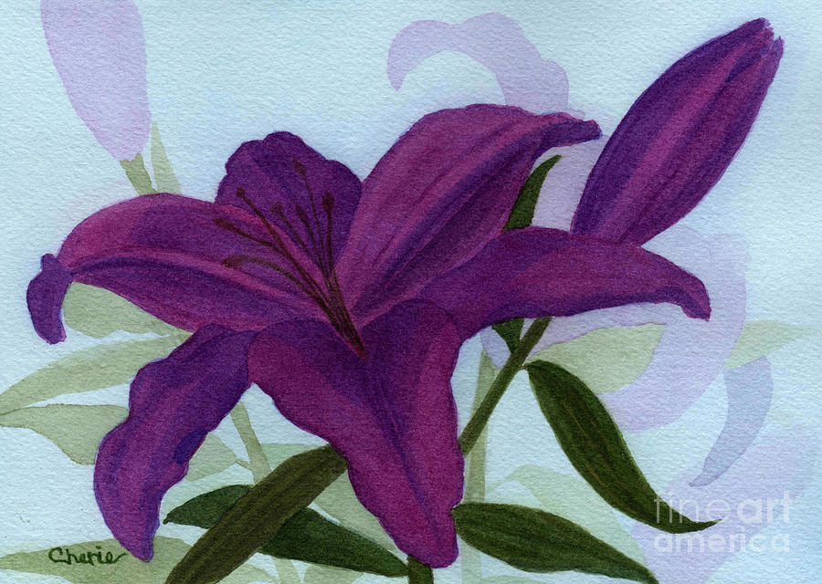 Lily Painting - Amethyst Lily by Vikki Wicks