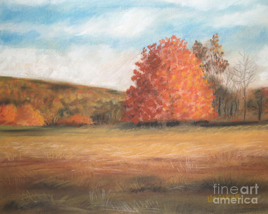 Pastel Drawing - Amid The Tranquil Presence Of Change by Lisa Urankar