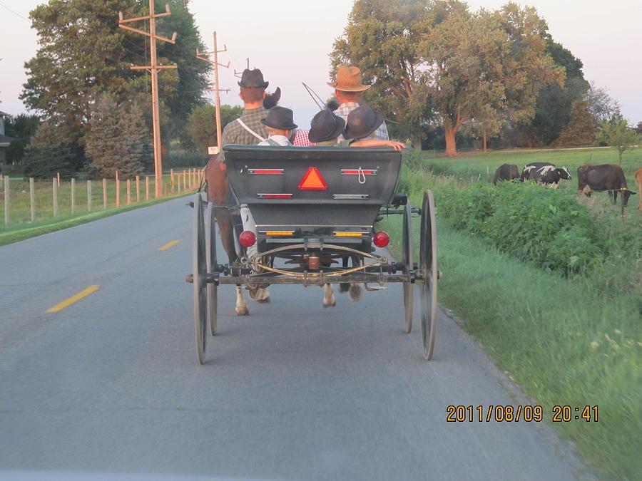 Farm Photograph - Amish Convertible by Tina M Wenger