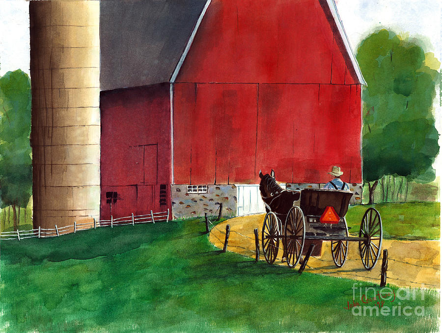 Amish Country Painting By John Countway