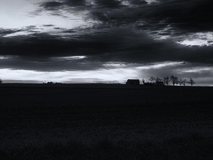 Amish Photograph - Amish Sunrise Black And White by Joshua House