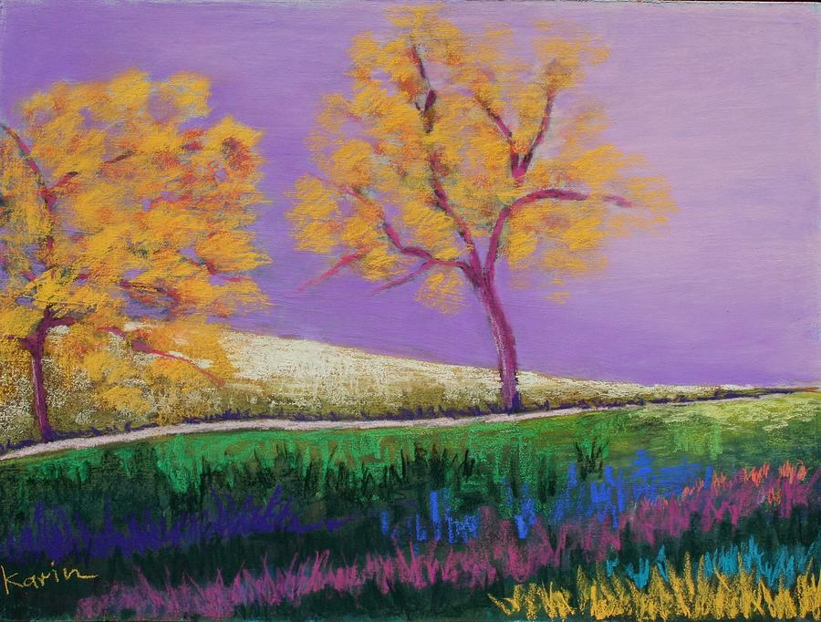 Landscape Painting - Amish Trees by Karin Eisermann