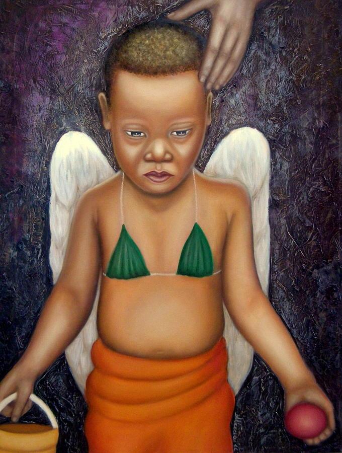 Angels Painting - Amor che tutto hai dato al mondo by Alessandra Veccia