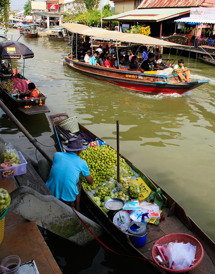 Amphawa Photograph - Ampawa Floating Market by Adrian Evans